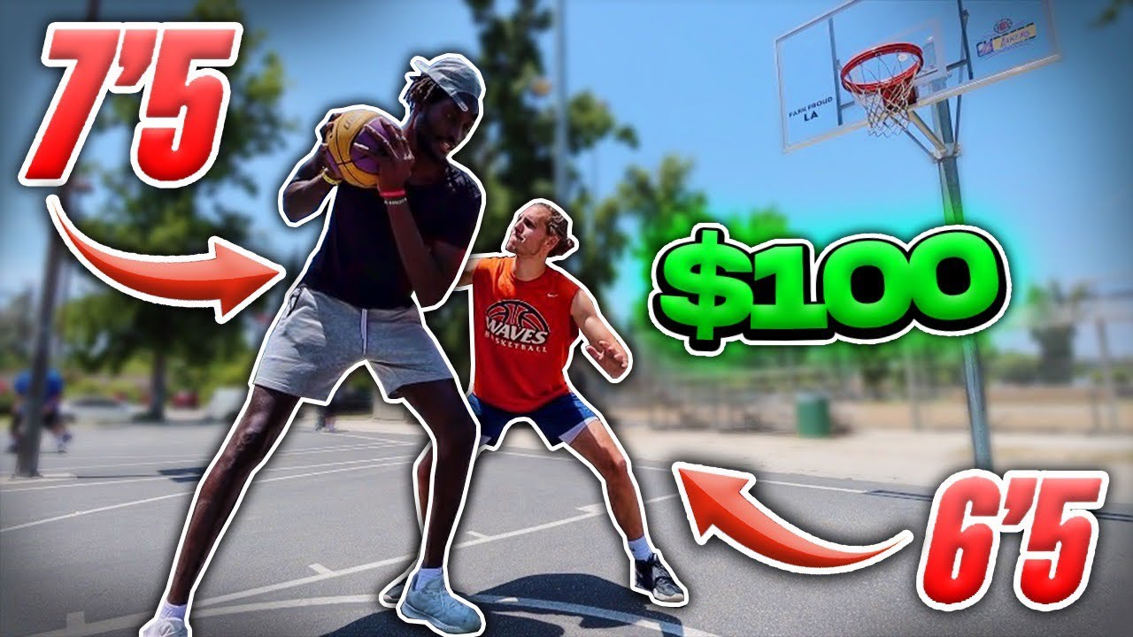 Score On Me, You Get $100 vs 7'5″ Hooper & Random People!