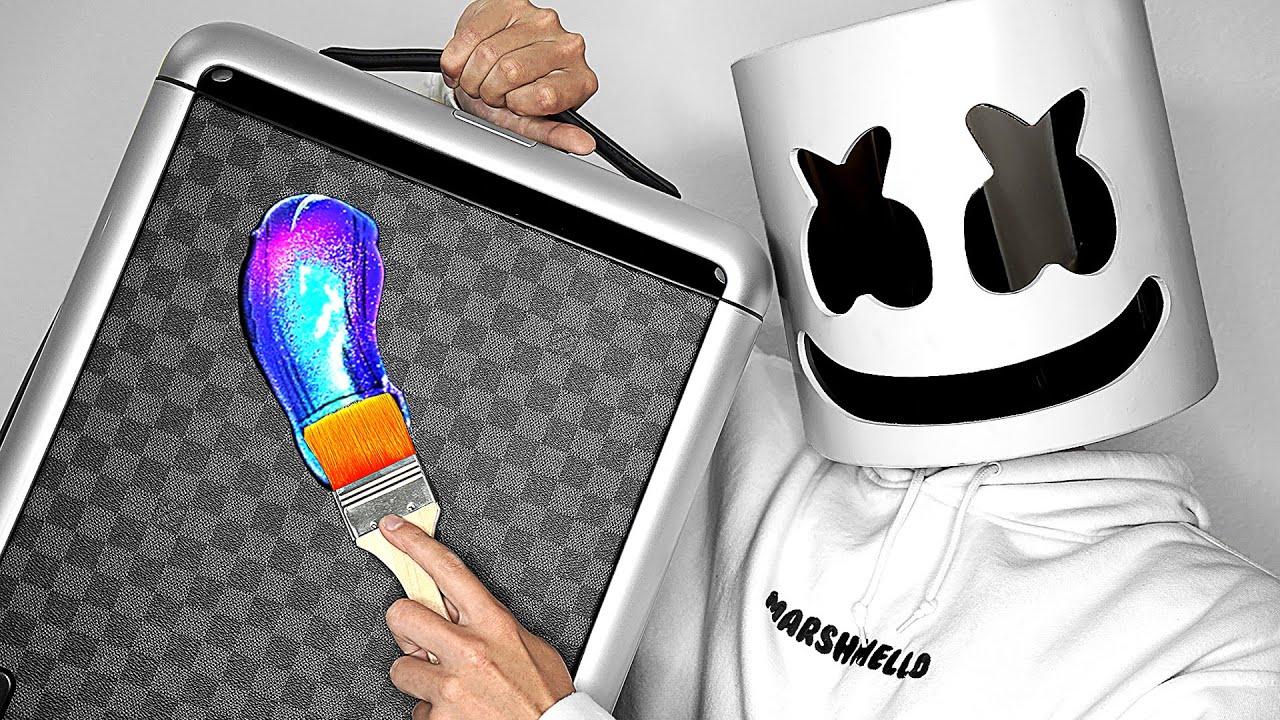 Surprising Marshmello With Custom Louis Vuitton Bags!! ?? ft. Tik Tok | ZHC