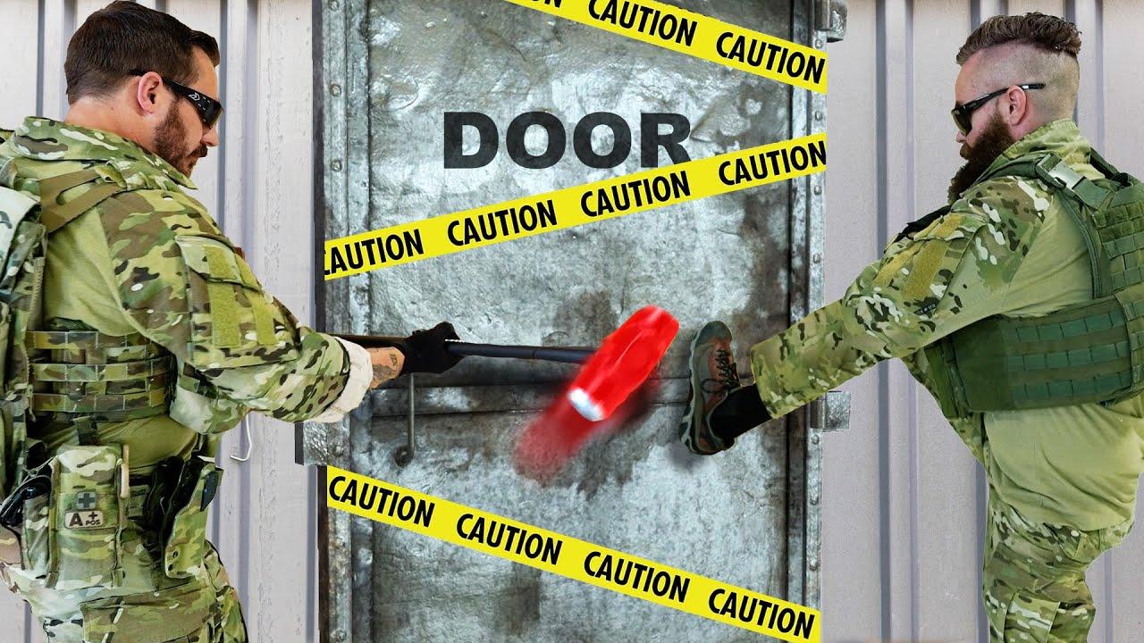 Unbreakable Door vs an Actual SWAT Team! – Challenge