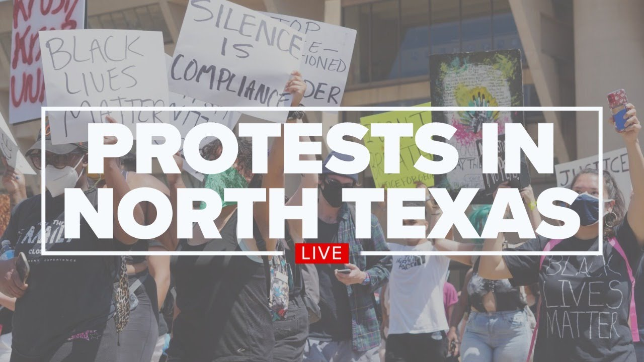 WATCH: Police brutality protests continue in North Texas