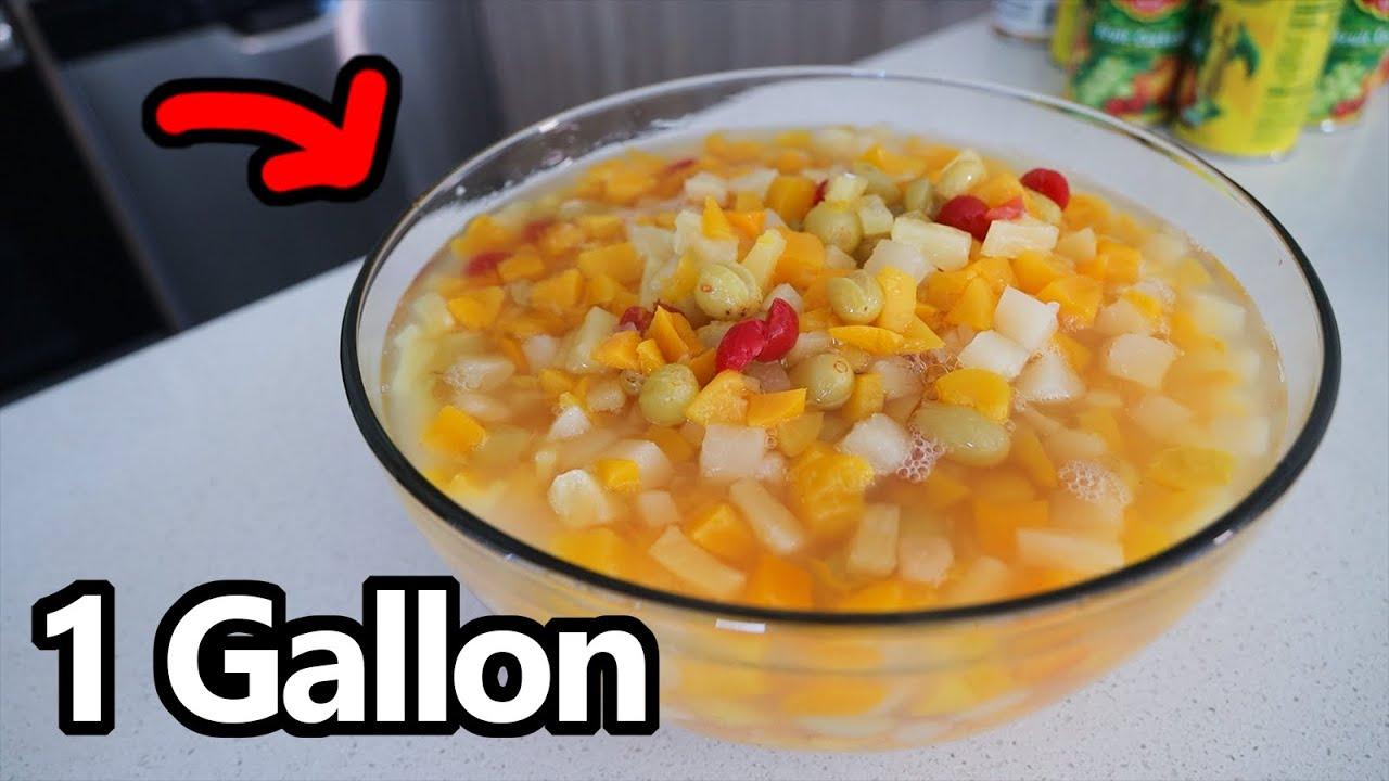1.2 Gallon FRUIT COCKTAIL Eaten in ~5 Minutes!!