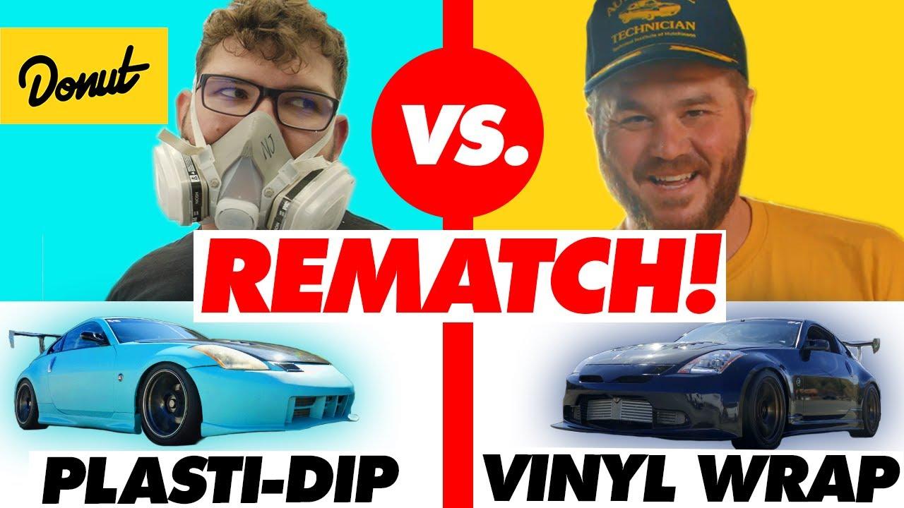 $500 Plasti-Dip vs. $2600 Vinyl Wrap – PART 2! | Donut Media