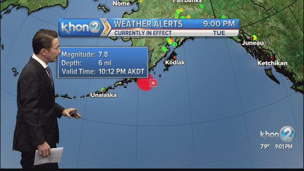 7.8 magnitude earthquake hits Alaska.