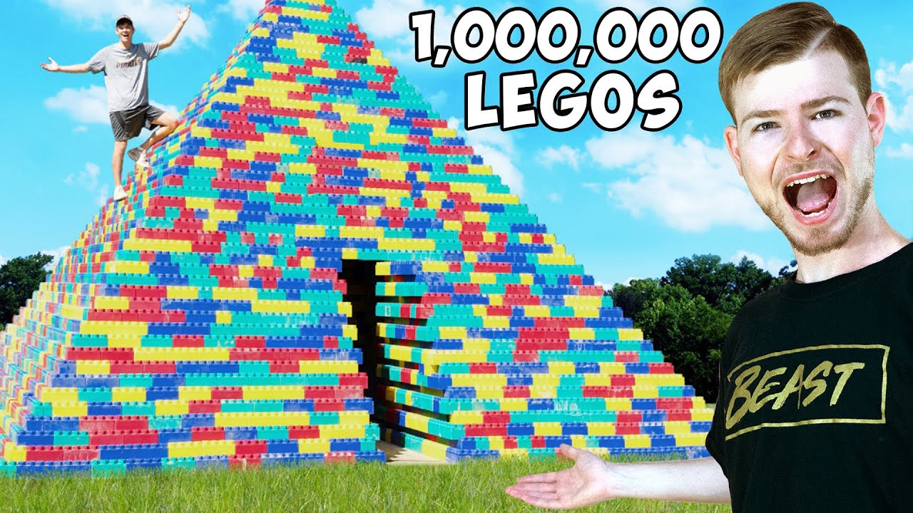 I Built A GIANT Pyramid Out Of Legos