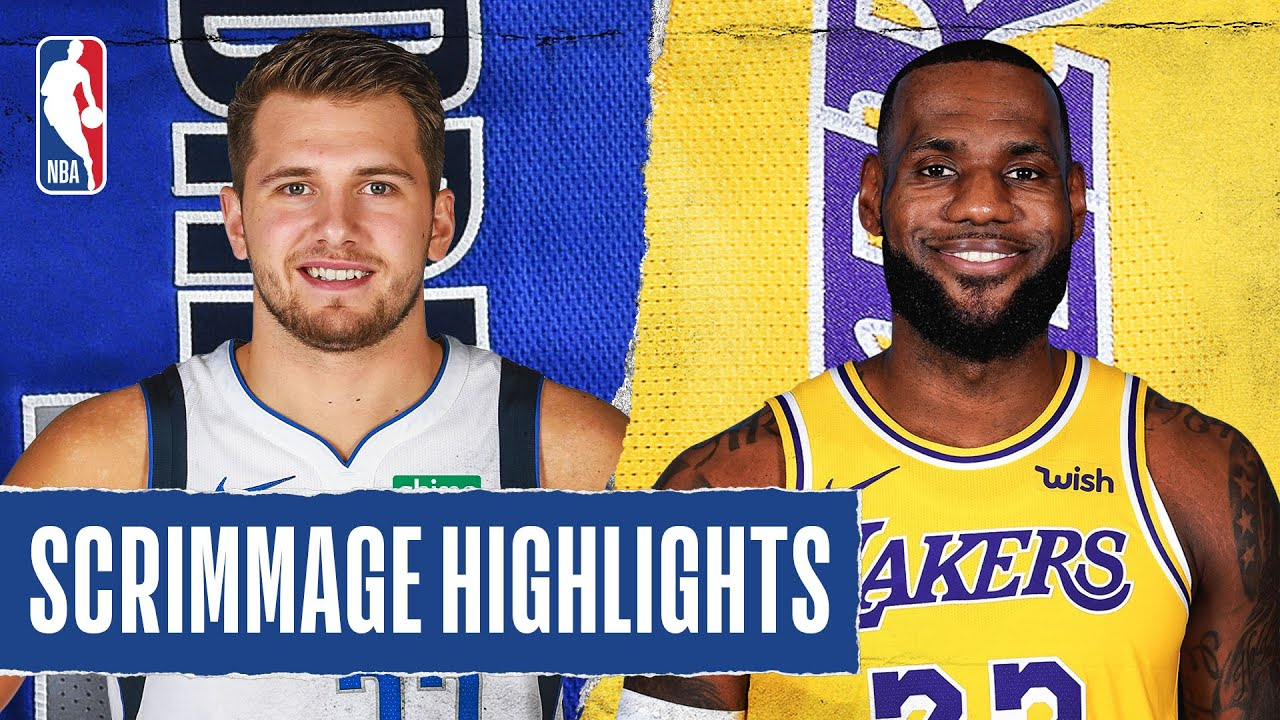 MAVERICKS at LAKERS | SCRIMMAGE HIGHLIGHTS | July 23, 2020