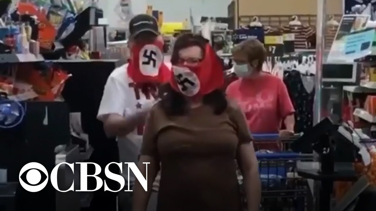 Man and woman seen wearing swastika face masks in Minnesota