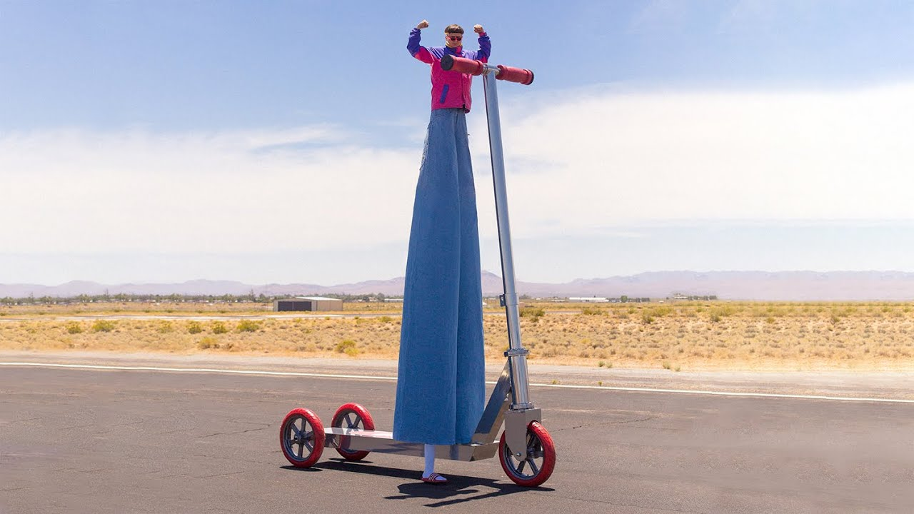 Oliver Tree Attempts to Break Guinness World Record for World's Biggest Scooter [Live Stream]