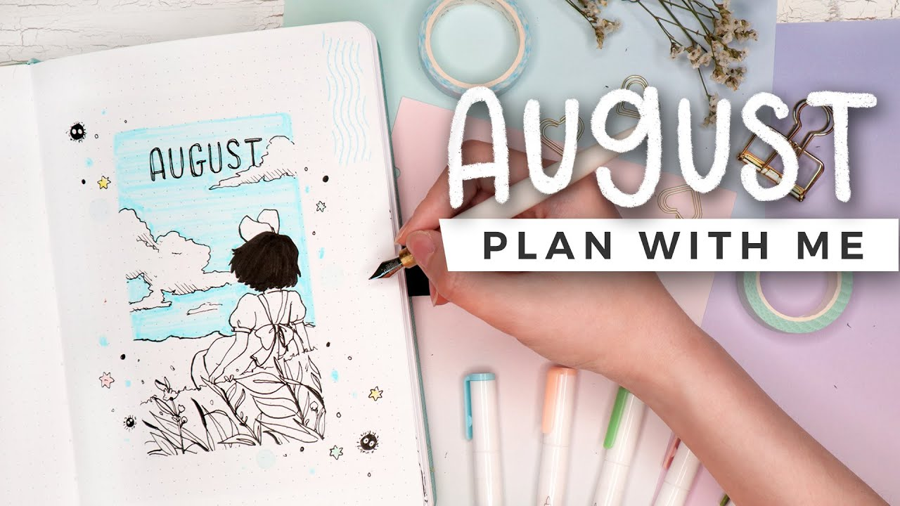 PLAN WITH ME | August 2020 Bullet Journal Setup