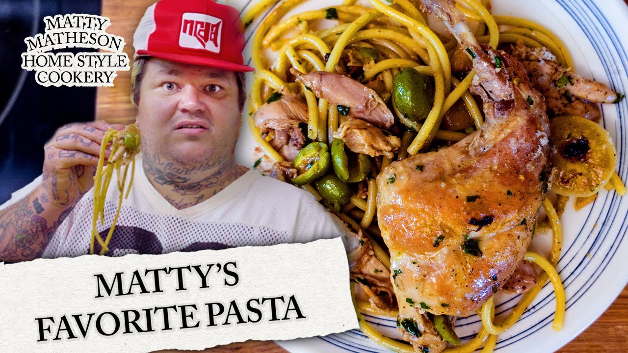 Pasta with Rabbit and Olives | Home Style Cookery with Matty Matheson Ep. 4