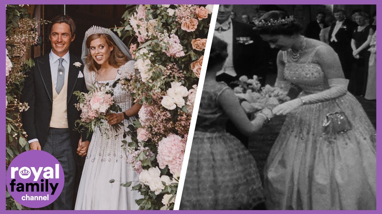 Princess Beatrice's Beautiful Wedding Dress and Tiara Borrowed from the Queen