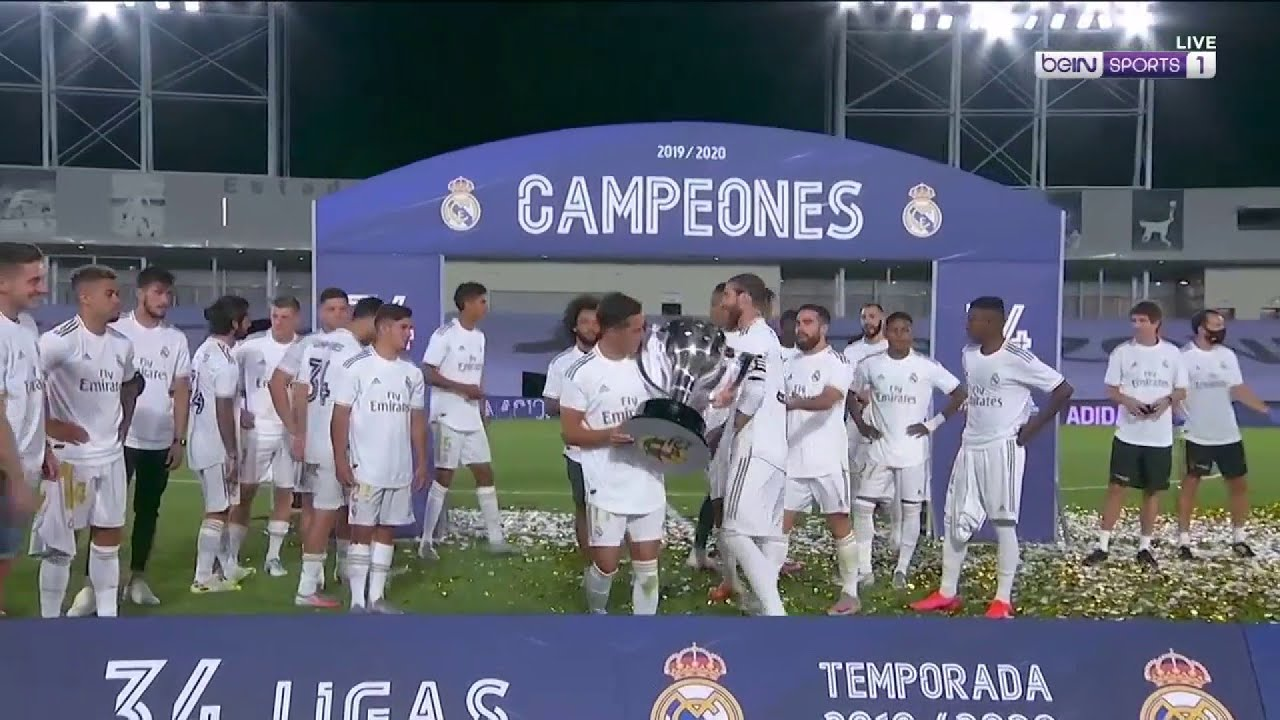 Real Madrid's FULL LaLiga 19/20 trophy presentation | LaLiga 19/20 Moments
