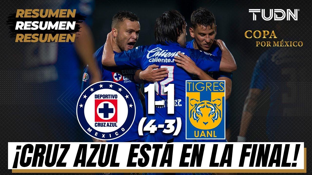 Resumen y goles | Cruz Azul 1(4)-(3)1 Tigres | Semifinal Copa por México | TUDN