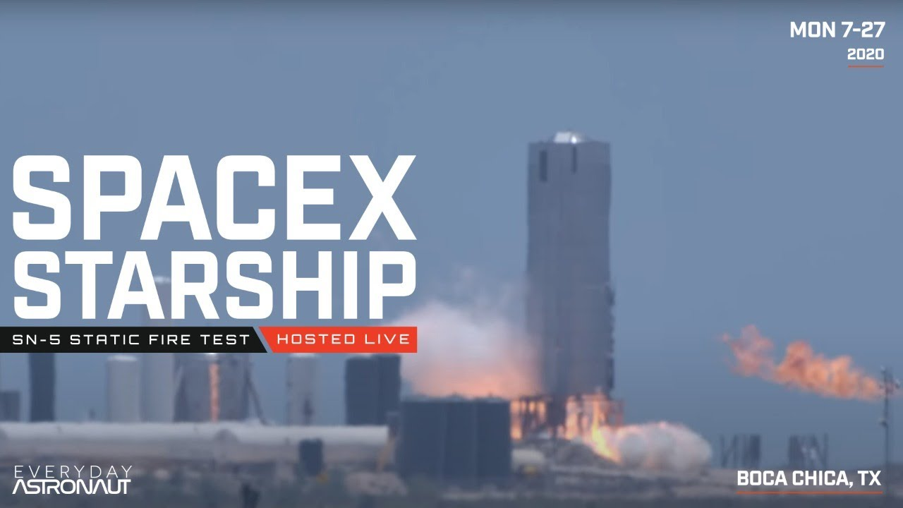 [SCRUBBED] Let's watch SpaceX static fire Starship SN-5!
