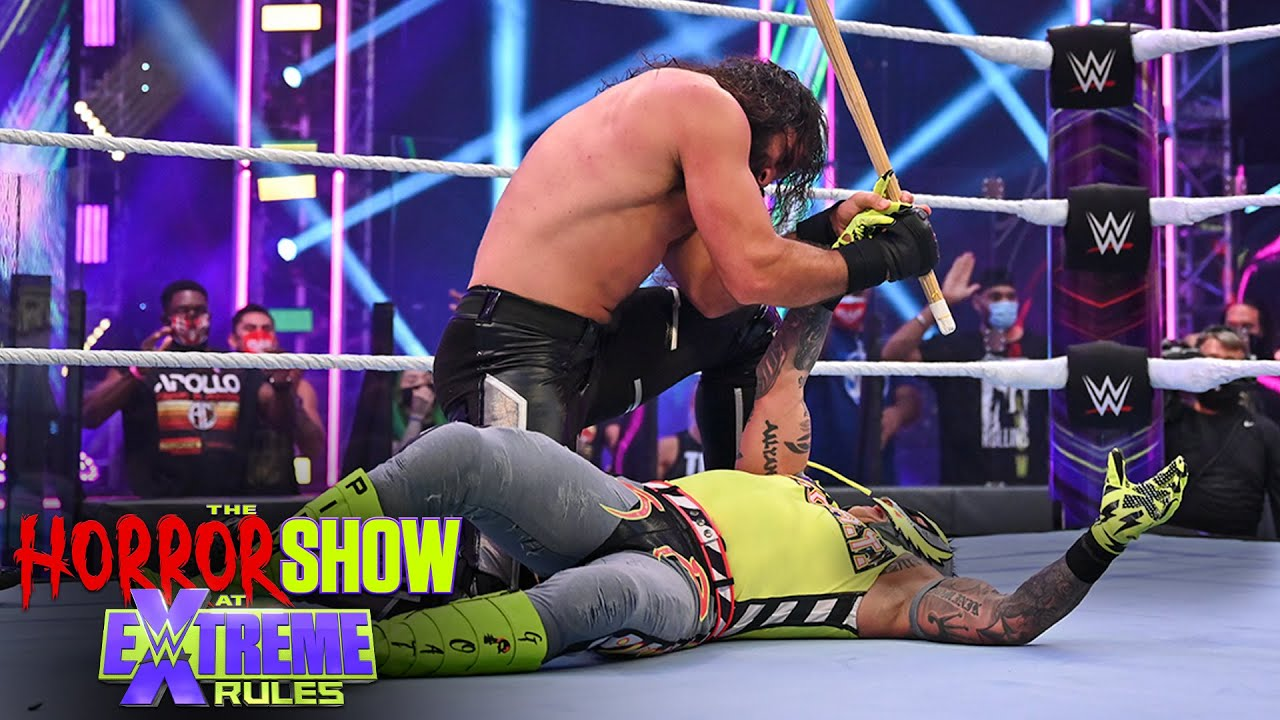 Seth Rollins zeroes in on Rey Mysterio's eye: The Horror Show at WWE Extreme Rules