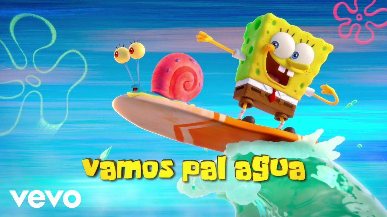 "Tainy, J Balvin – Agua (Music From ""Sponge On The Run"" Movie/Official Lyrics)"