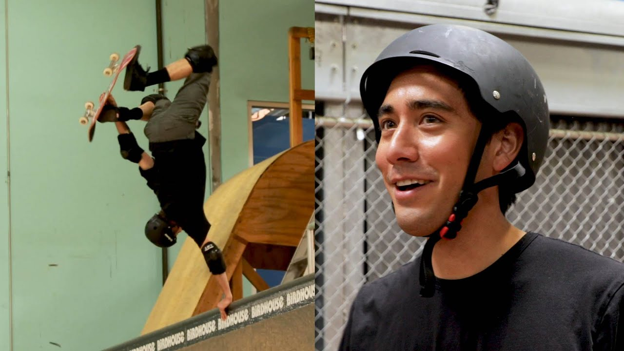 Tony Hawk Learns a Skate Trick from Zach King | Magic with Celebrities