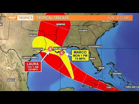 4AM: Hurricane warnings issued for Louisiana ahead of Marco, Laura