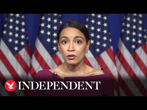 AOC delivers highly-anticipated 90-second speech endorsing Sanders at DNC