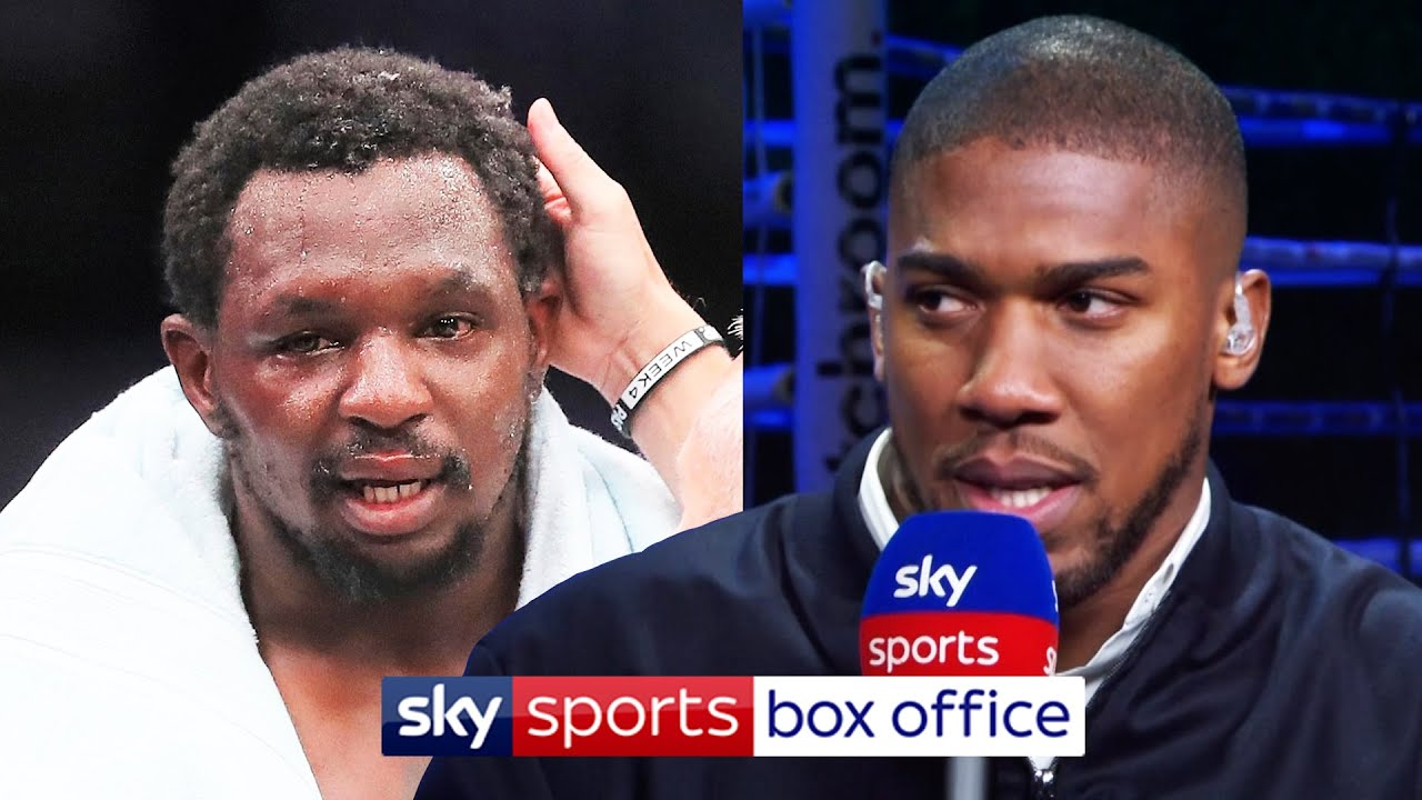 Anthony Joshua sends message to Dillian Whyte after upset to Alexander Povetkin