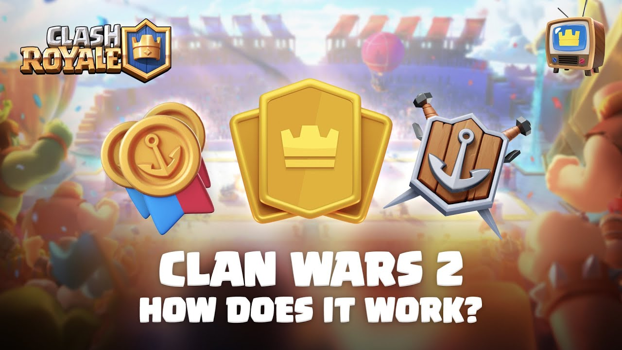 Clash Royale: CLAN WARS 2 ⚔️ How does it work? TV Royale Update News