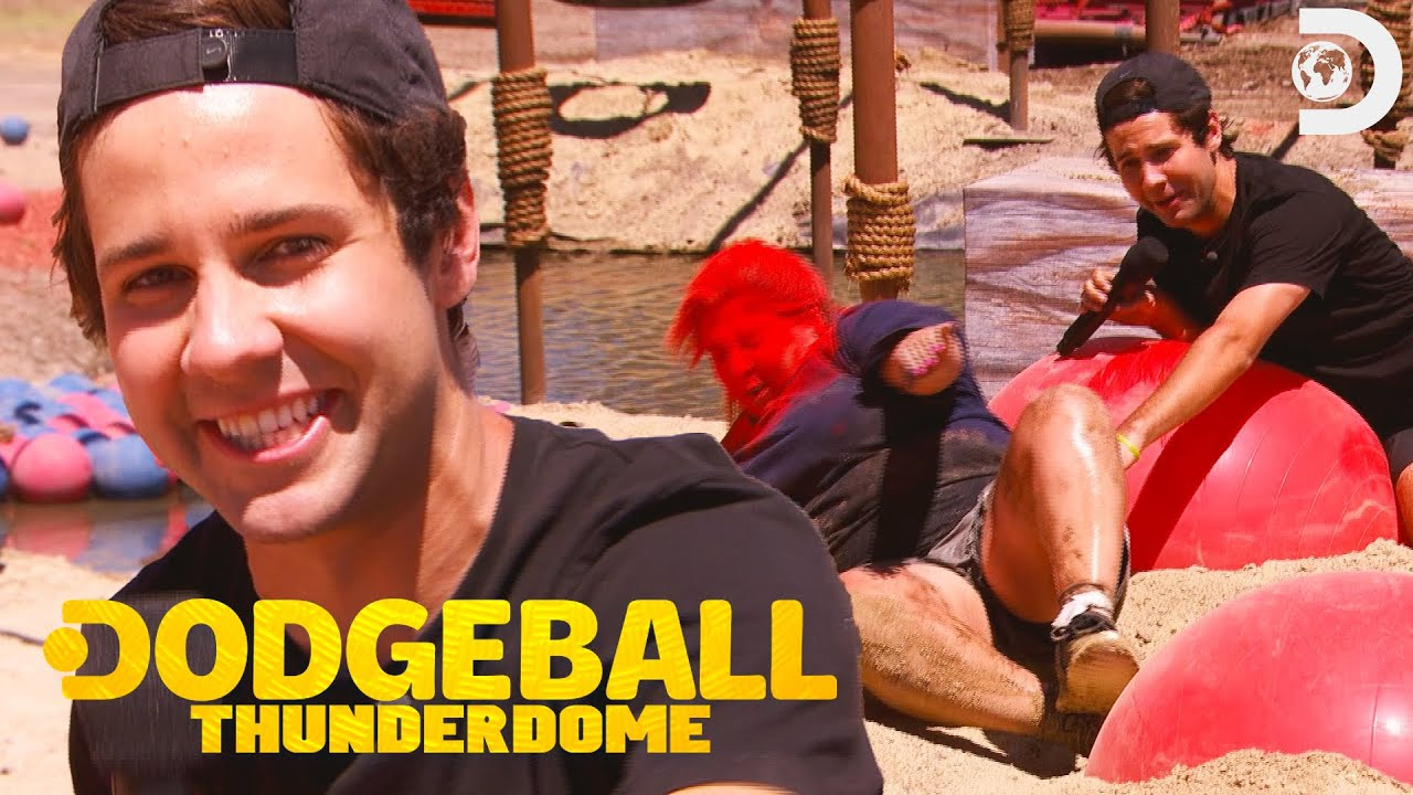 David Dobrik's Vlog Squad Get Blasted on the Dodgeball Thunderdome Course