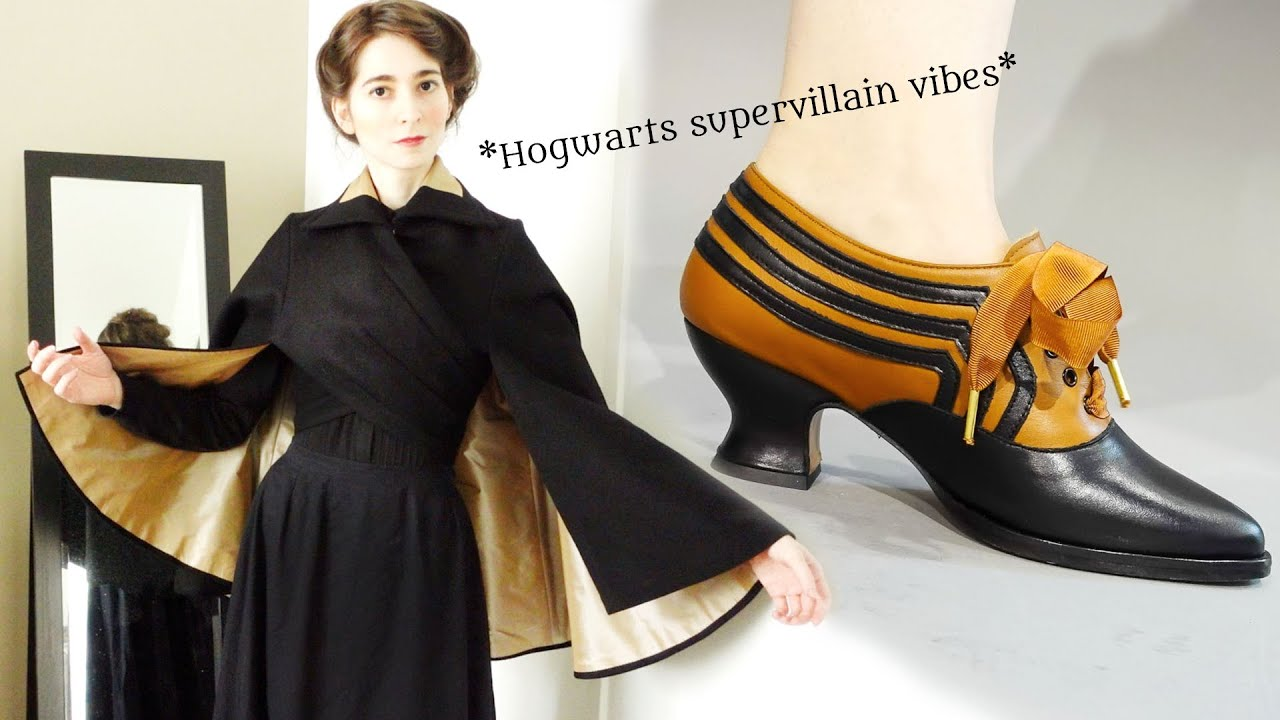 I Made an Edwardian Wrap Cape…and American Duchess Made Shoes to Match!