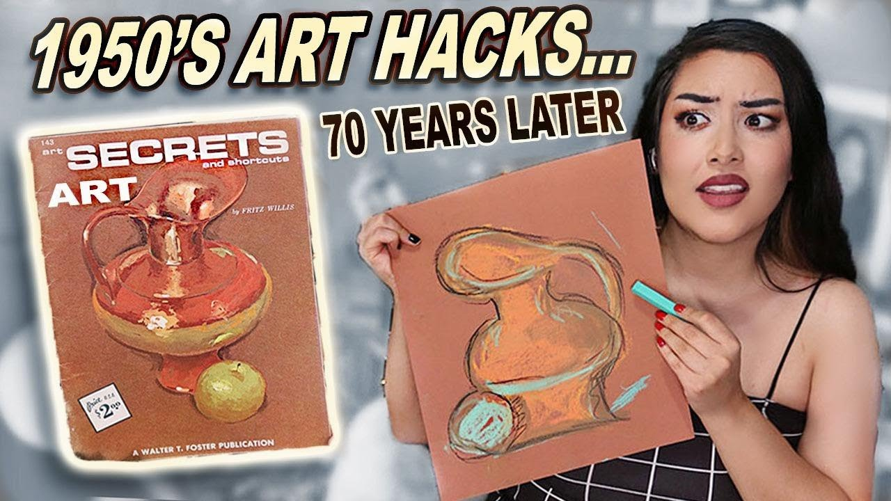 I Tried Vintage 70 Year Old Art Hacks From The 1950's *lets not go back lol*