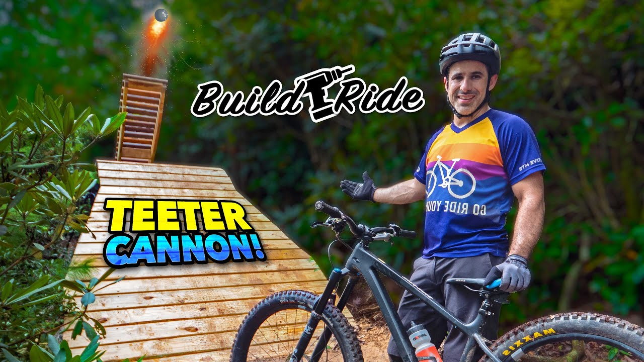 It's kinda sketchy! Building & Riding the Teeter Cannon
