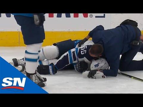 Mark Scheifele Injured & Leaves Game After Awkward Collision With Matthew Tkachuk