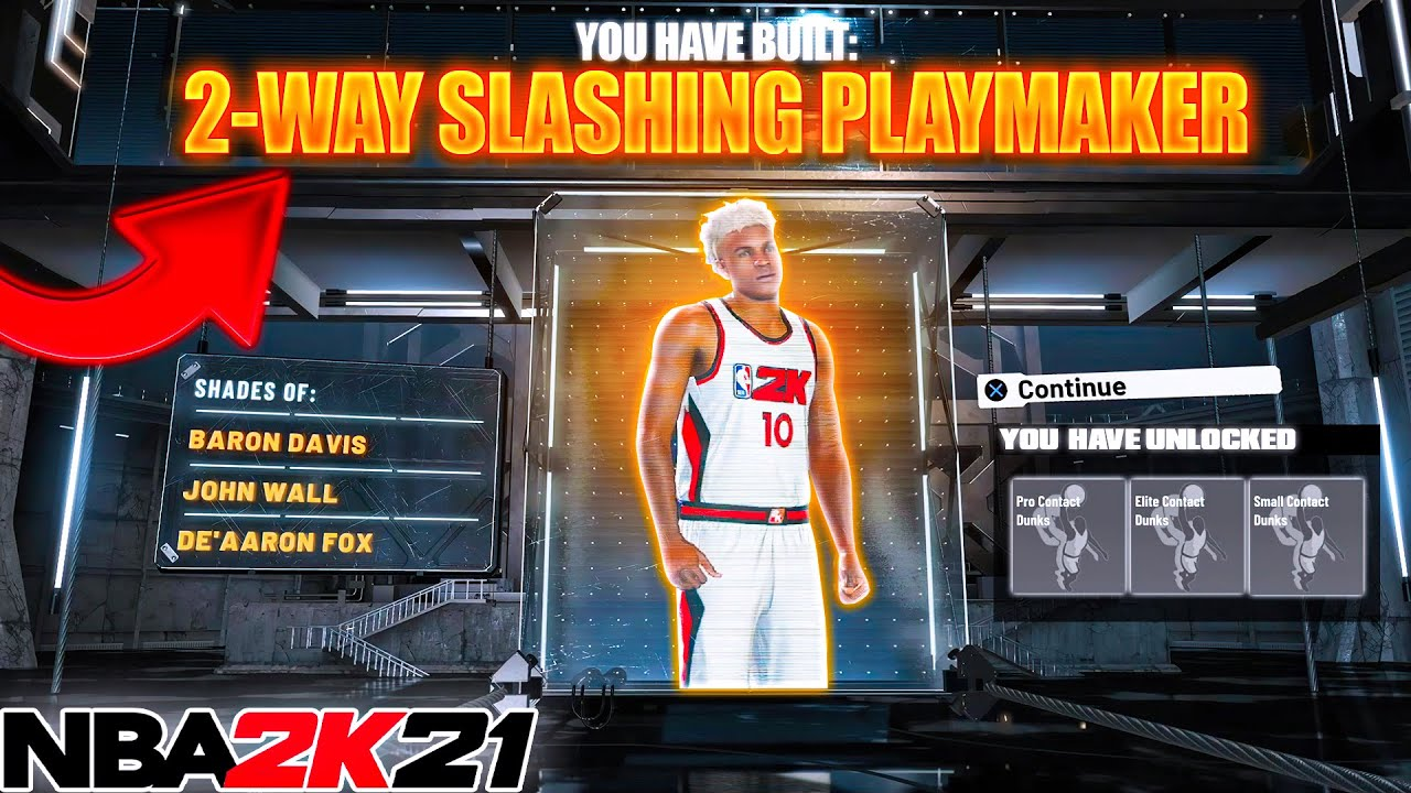 NBA2K21 THE NEW 2-WAY SLASHING PLAYMAKER w/CONTACT DUNKS IS GAMEBREAKING!