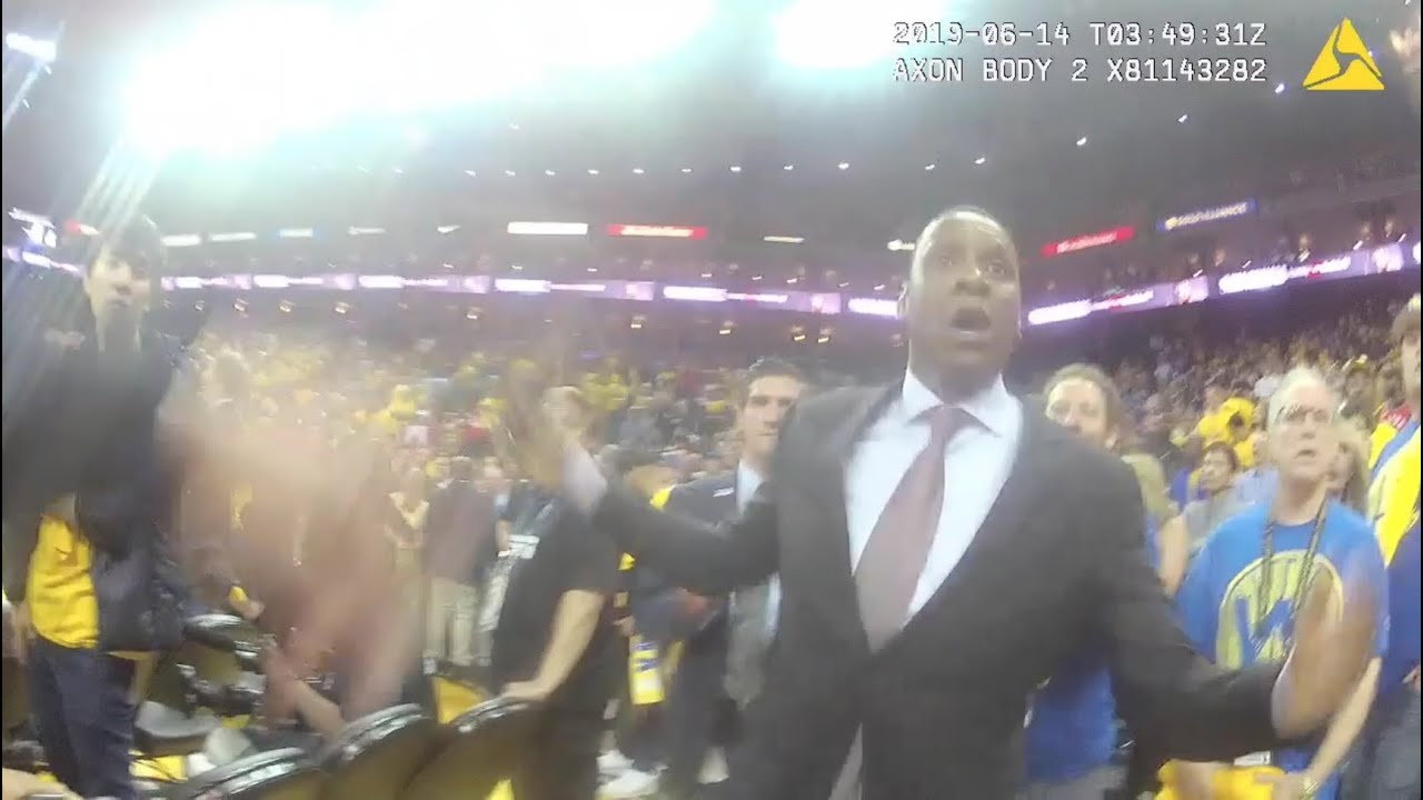 New video gives up close view of shoving match between Raptors exec and Alameda Co. sheriff's deputy