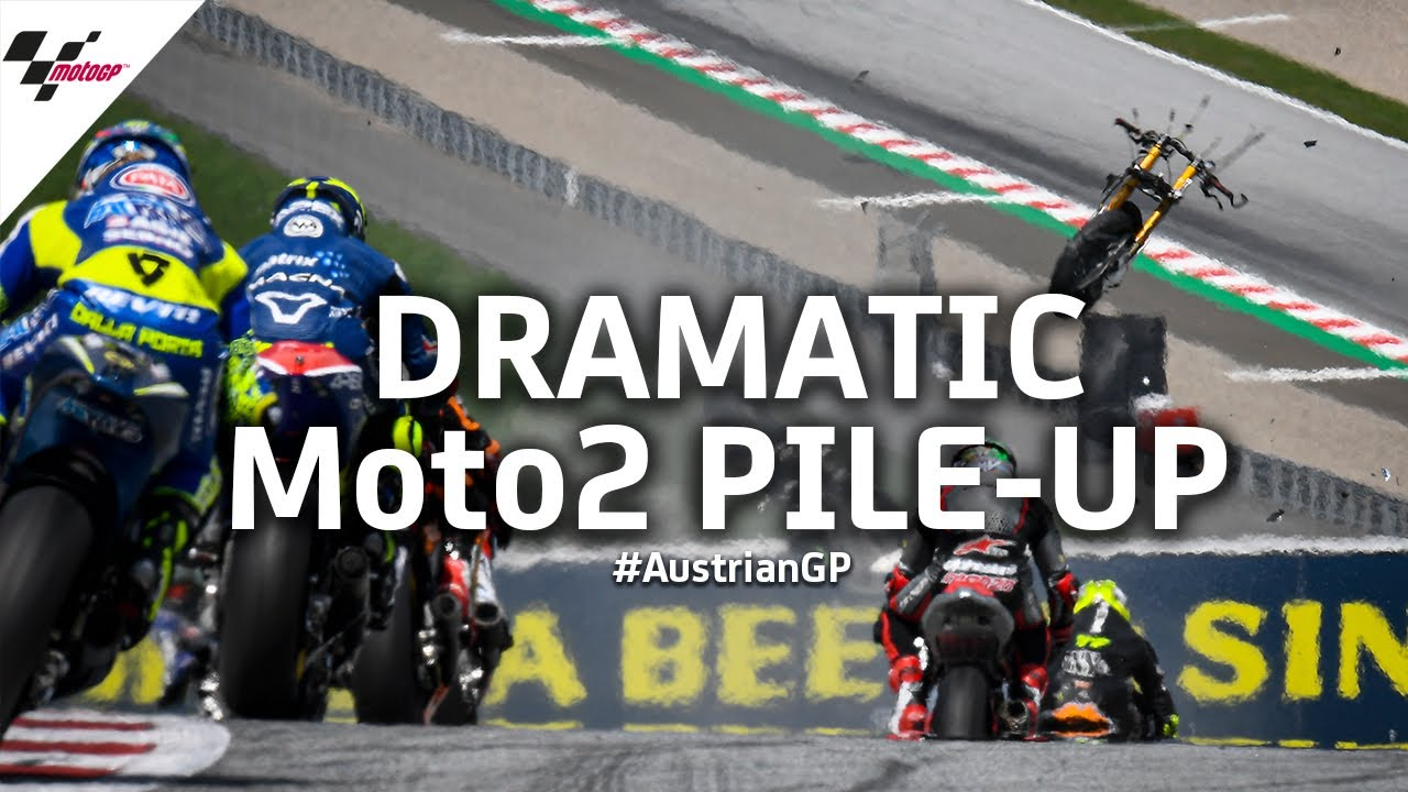 Scary Moto2™ crash from every possible angle | 2020 #AustrianGP