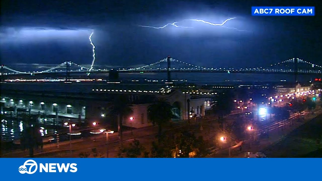 Staggering footage of lightning storm that started Bay Area fire complexes