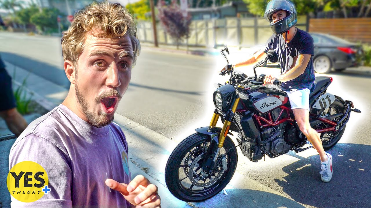 Surprising Thomas with a Motorcycle!!