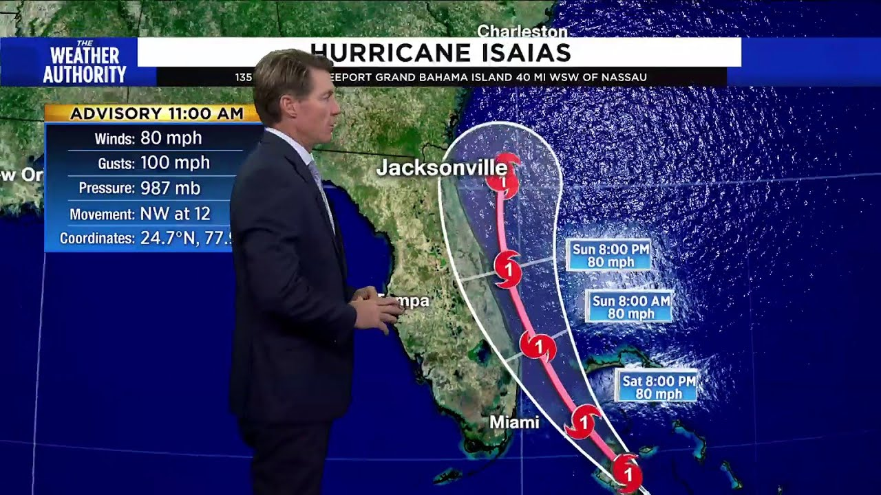 WATCH: Hurricane Isaias 11 a.m. Saturday update