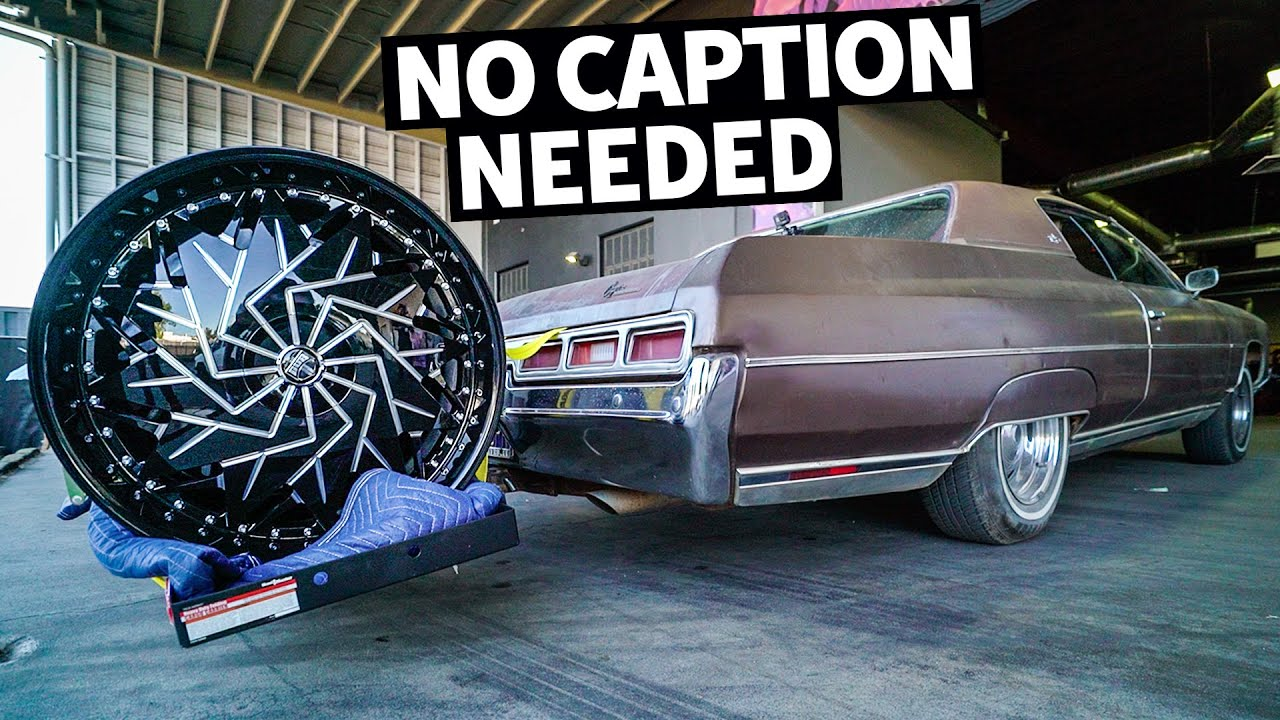 We fit 26″ Wheels on our Donk… With NO Cutting, NO Lift.