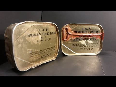 1945 RAF Emergency Rations & 1900 British Perfectly Preserved Tin Review MRE Tasting Test