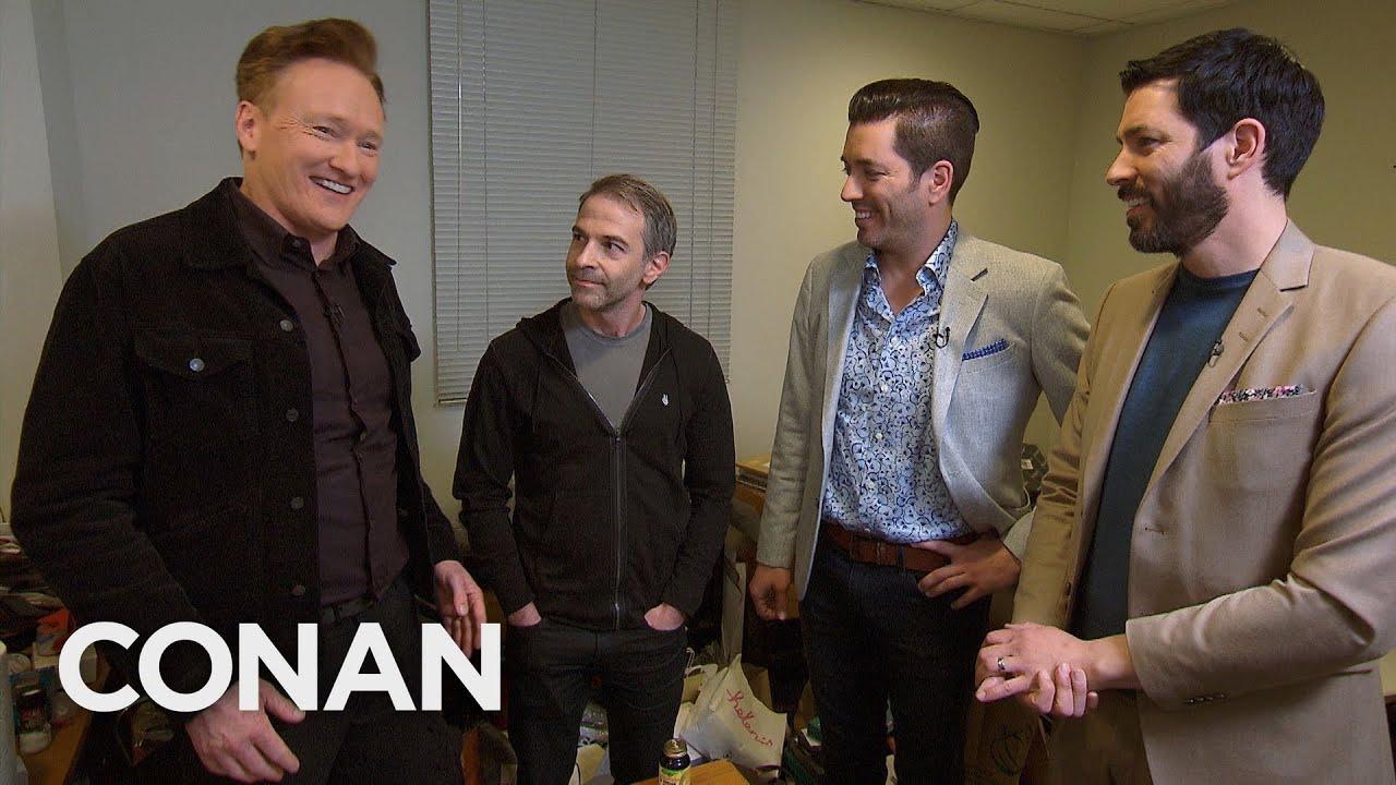 Conan Asks The Property Brothers To Renovate Jordan Schlansky's Office – CONAN on TBS