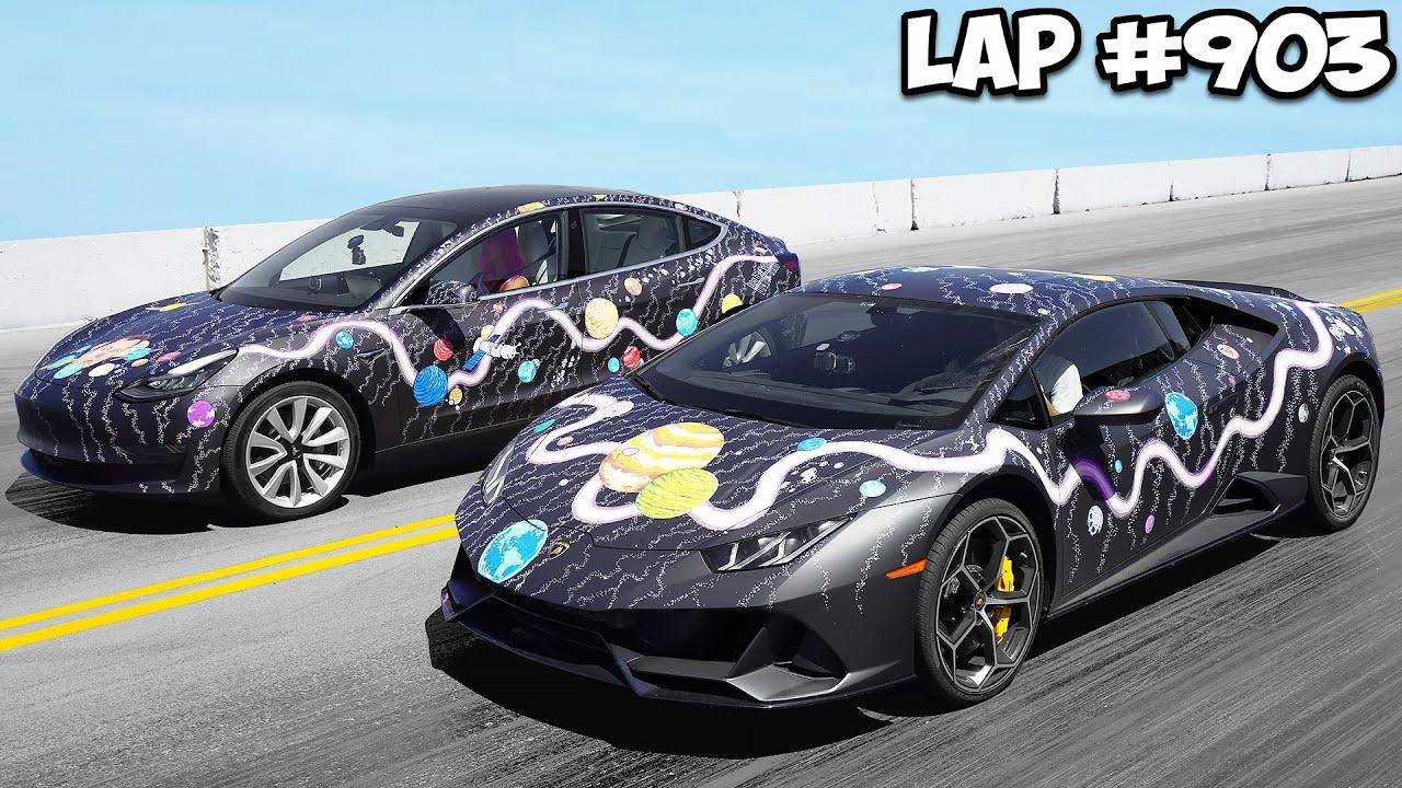 Custom Lamborghini vs. Tesla – Winner Keeps Car