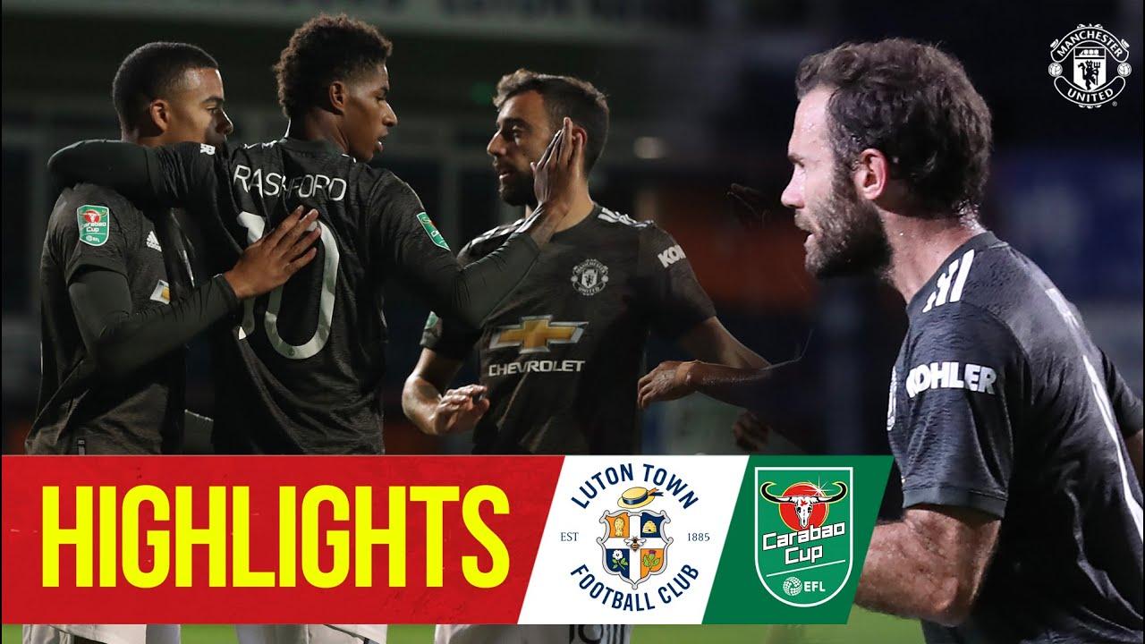 Highlights   Luton 0-3 Manchester United   Mata, Rashford & Greenwood seal Carabao Cup win at Luton