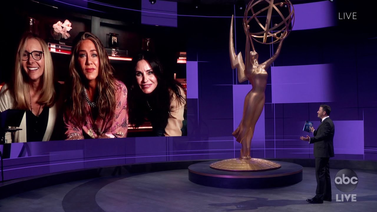 Jimmy Kimmel Checks in with Jennifer Aniston and Friends – Emmy Awards