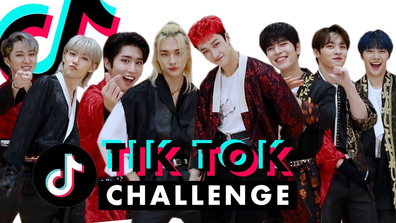 K-Pop Boy Band Stray Kids Is WAY Too Good at TikTok!   TikTok Challenge Challenge   Cosmopolitan