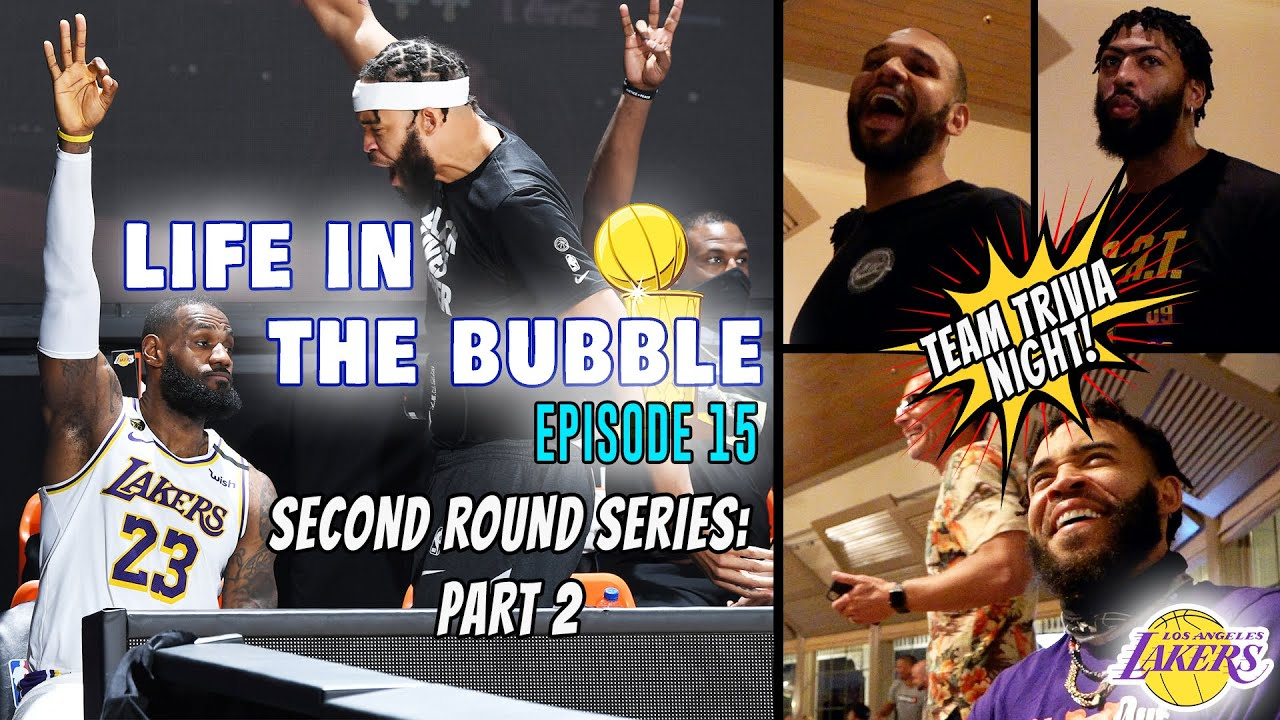 Life in the Bubble: Ep. 15 –  2nd Round LAL v. HOU: Part 2 + Team Trivia Night! | JaVale McGee Vlogs