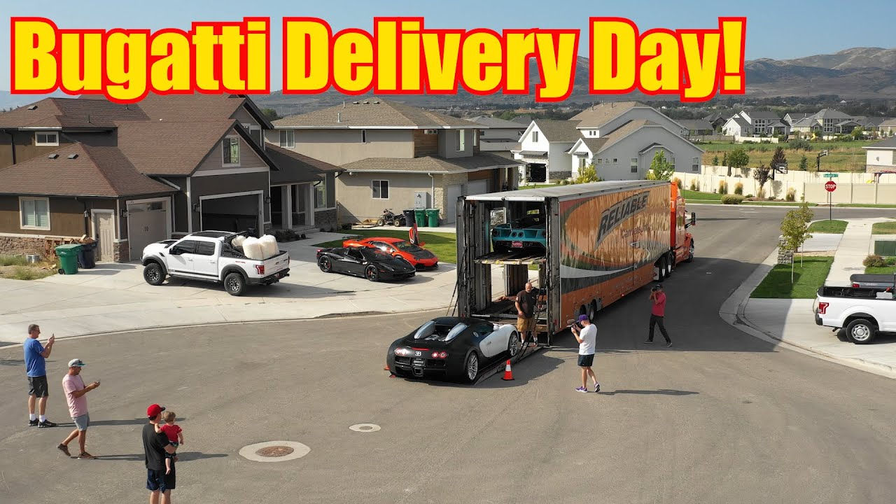 My Bugatti Veyron Delivered to my Landlord's House! (*Burlacher's House)