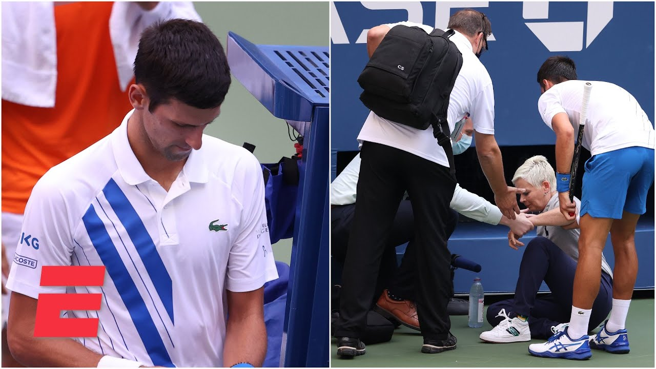 Novak Djokovic out of US Open after hitting judge with tennis ball | 2020 US Open Highlights