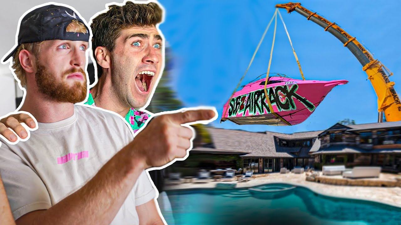 SNEAKING My $100,000 Yacht Into Logan Paul's Pool – Episode 2
