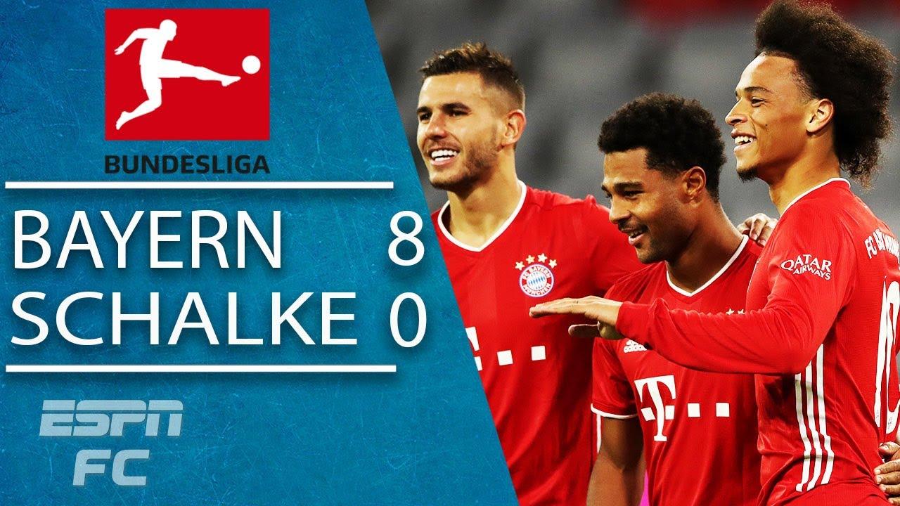 Serge Gnabry scores HAT TRICK & Lewandowski shines in Bayern's HUGE win vs. Schalke | ESPN FC