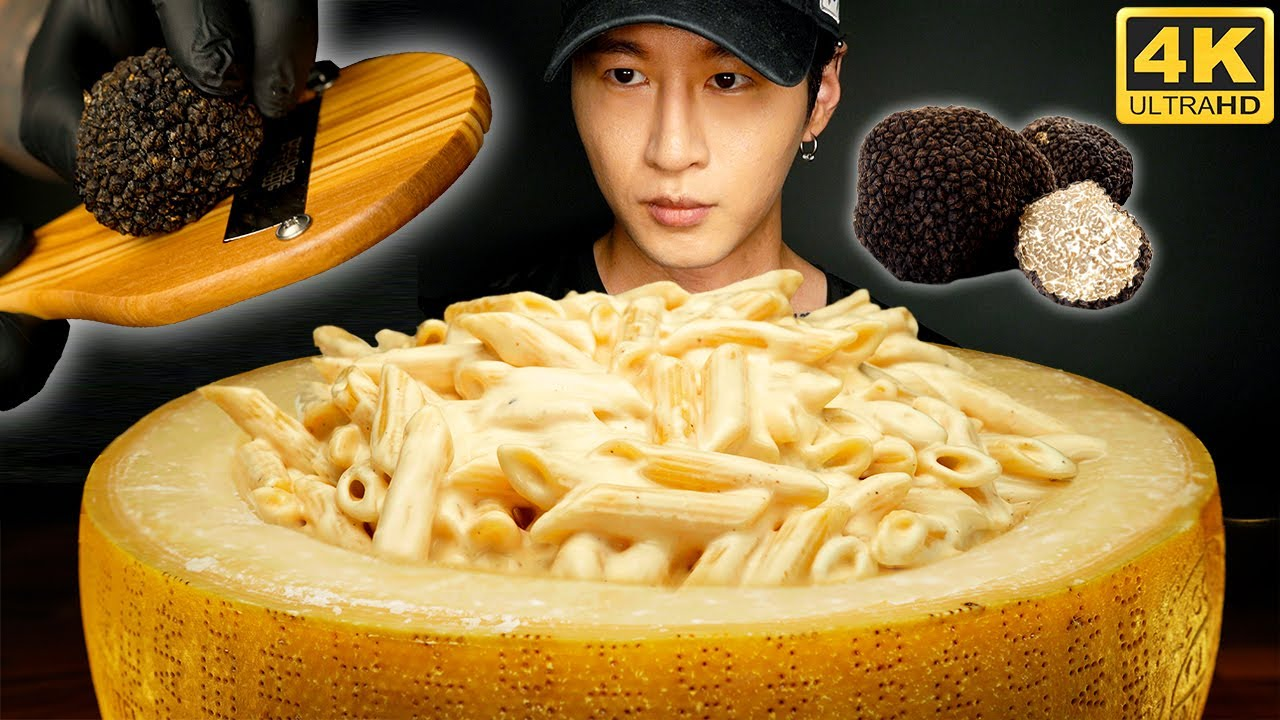 ASMR CHEESE WHEEL MAC & CHEESE MUKBANG 먹방 | COOKING & EATING SOUNDS | Zach Choi ASMR