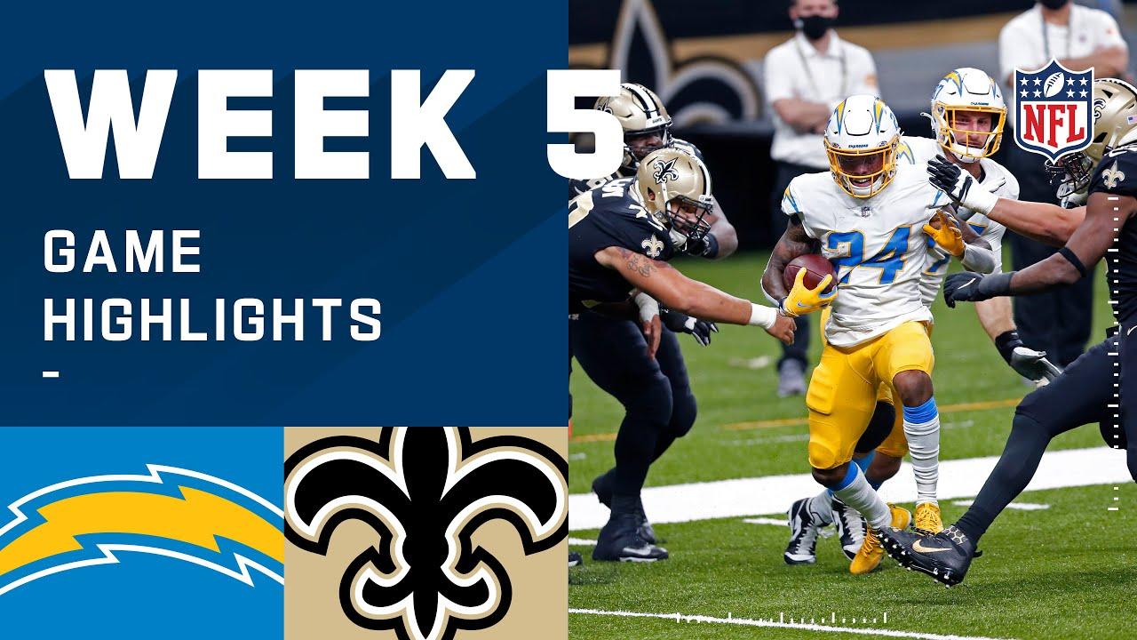Chargers vs. Saints Week 5 Highlights | NFL 2020