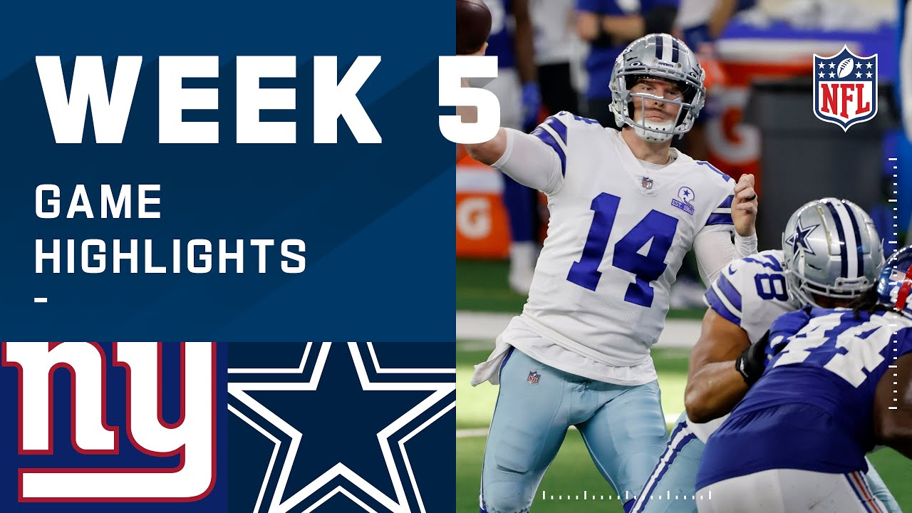 Giants vs. Cowboys Week 5 Highlights   NFL 2020